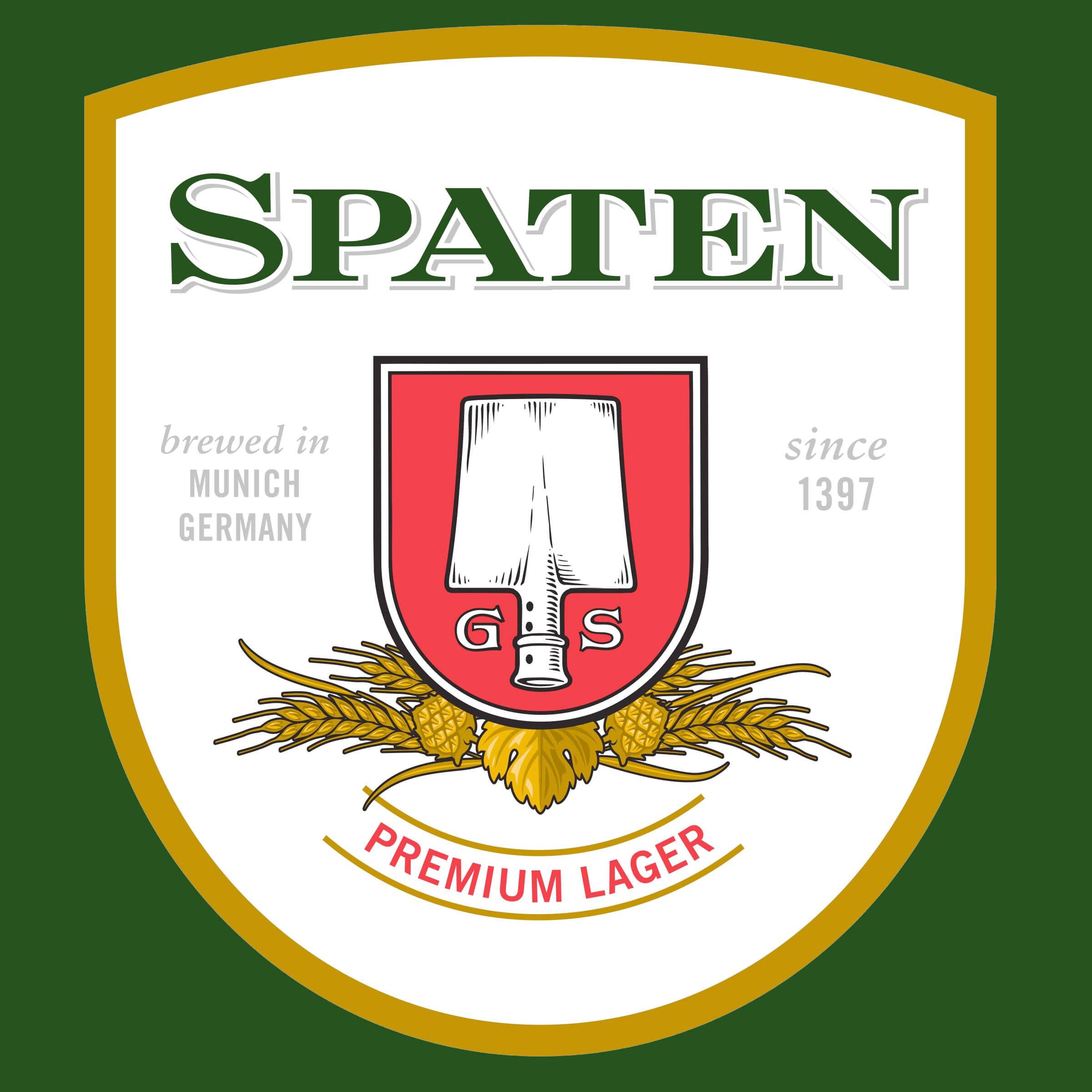 Label art for the Spaten Premium Lager (Münchner Hell) by Spaten-Franziskaner-Bräu