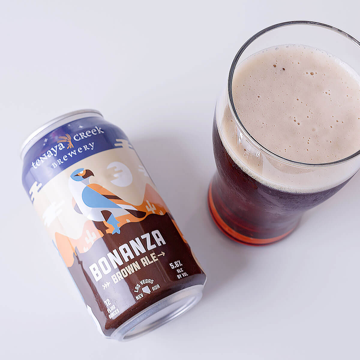 Bonanza Brown Ale is an English-style Brown Ale by Tenaya Creek Brewery that blends floral hops, biscuit, toffee, and fruity esters.