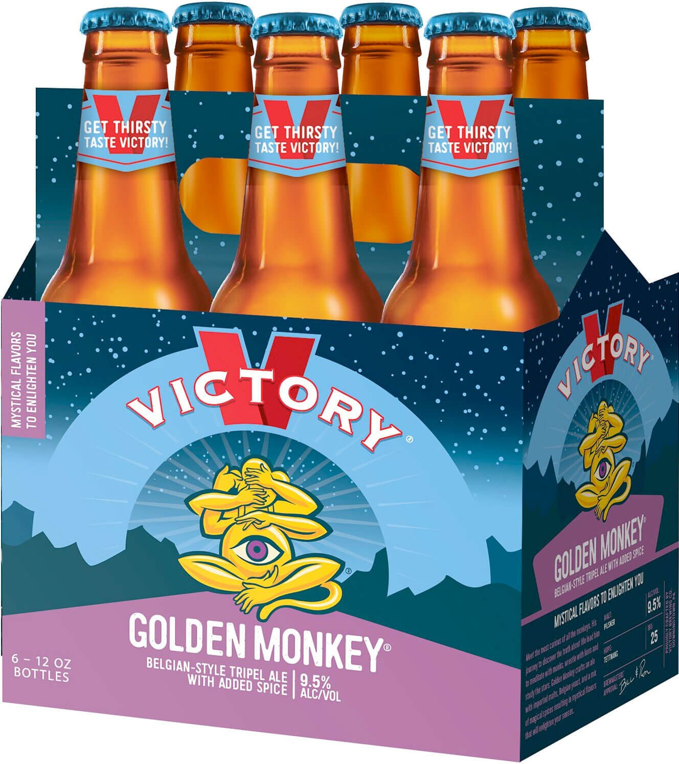 Packaging art for the Golden Monkey by Victory Brewing Company