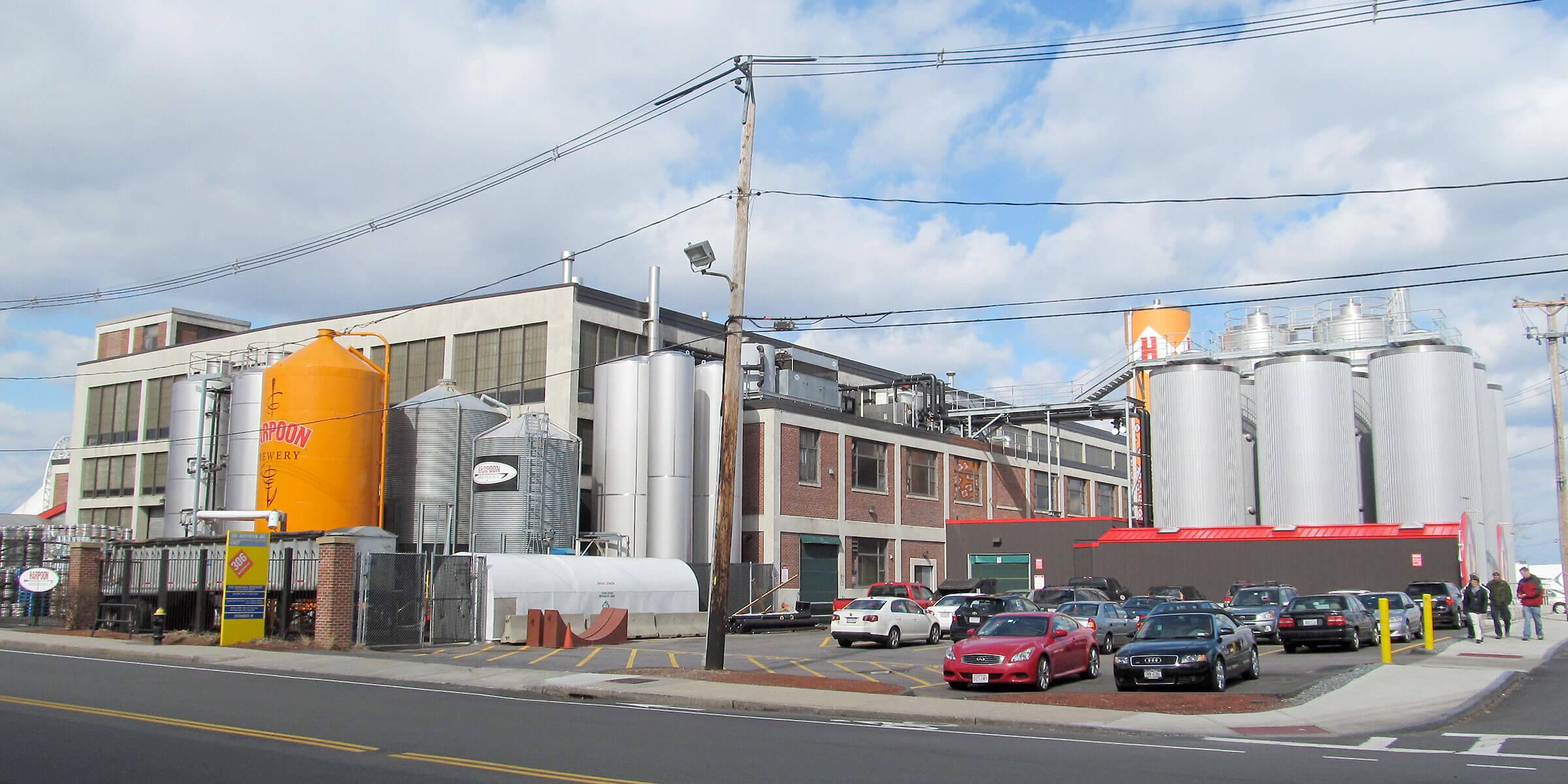 Outside the Harpoon Brewery in Boston, Massachusetts