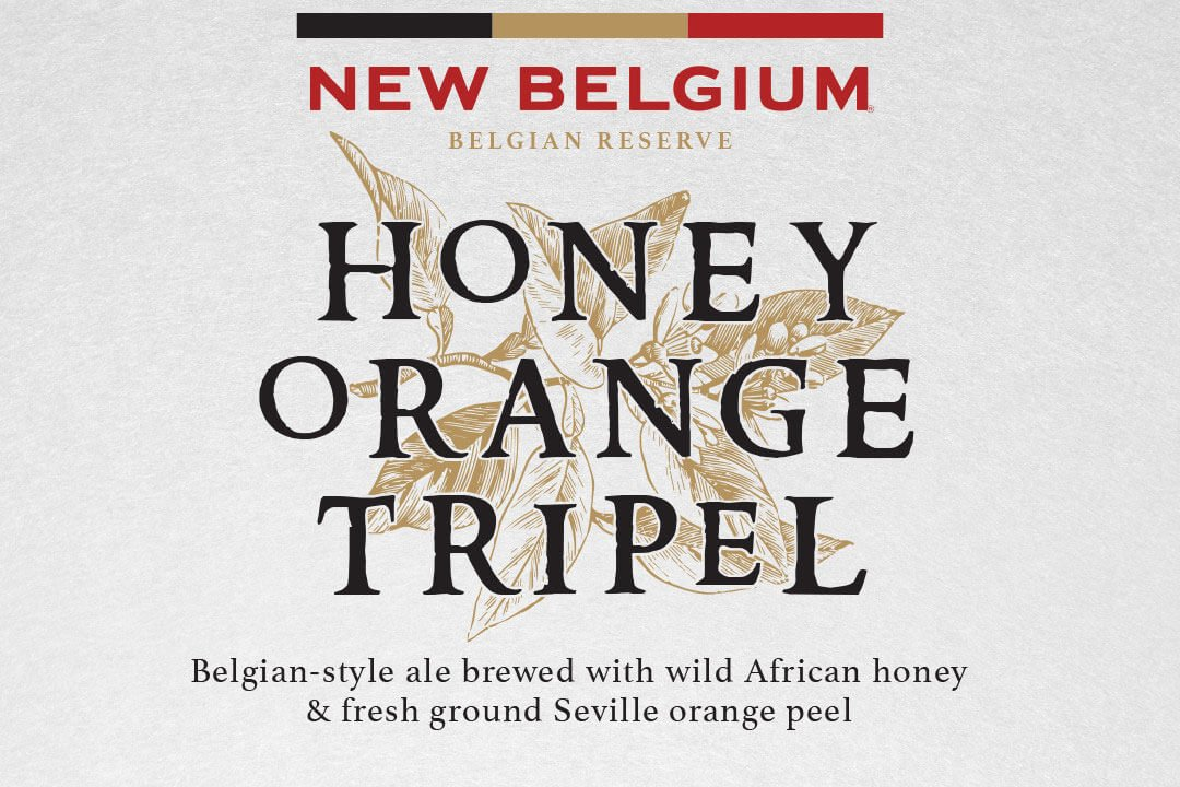 Label art for the Honey Orange Tripel by New Belgium Brewing Company