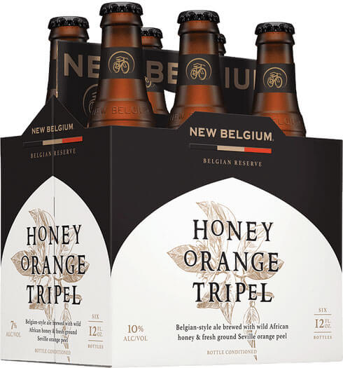 Packaging art for the Honey Orange Tripel by New Belgium Brewing Company