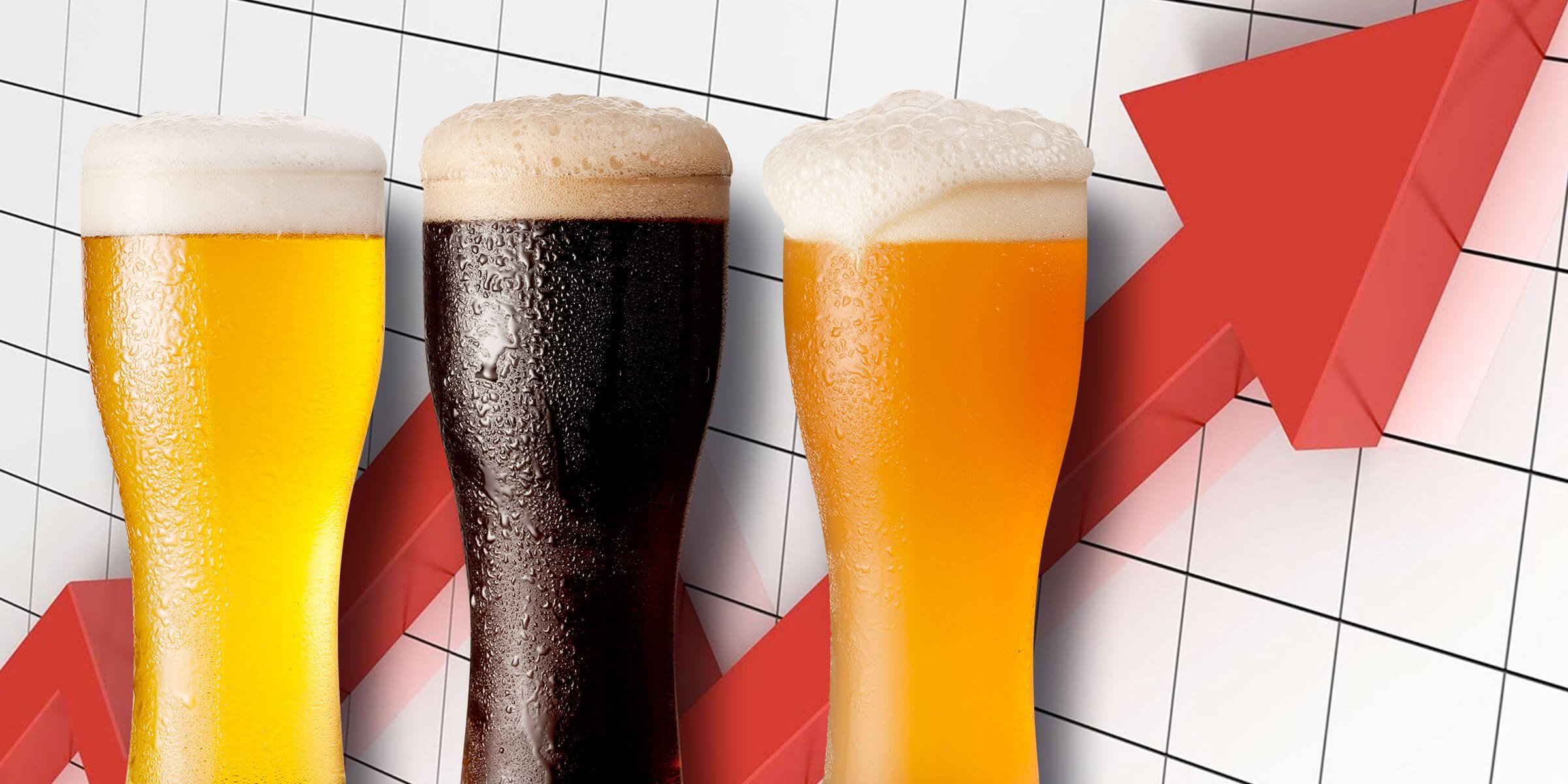 Chart shows growth of beer segment over time.