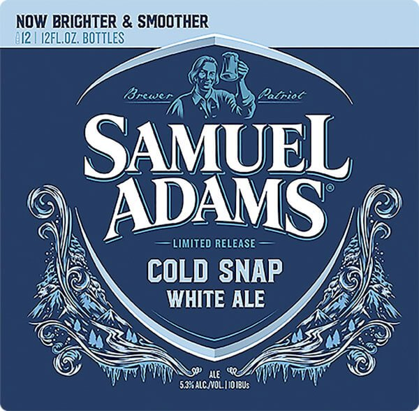 Label art for the Samuel Adams Cold Snap by Boston Beer Company