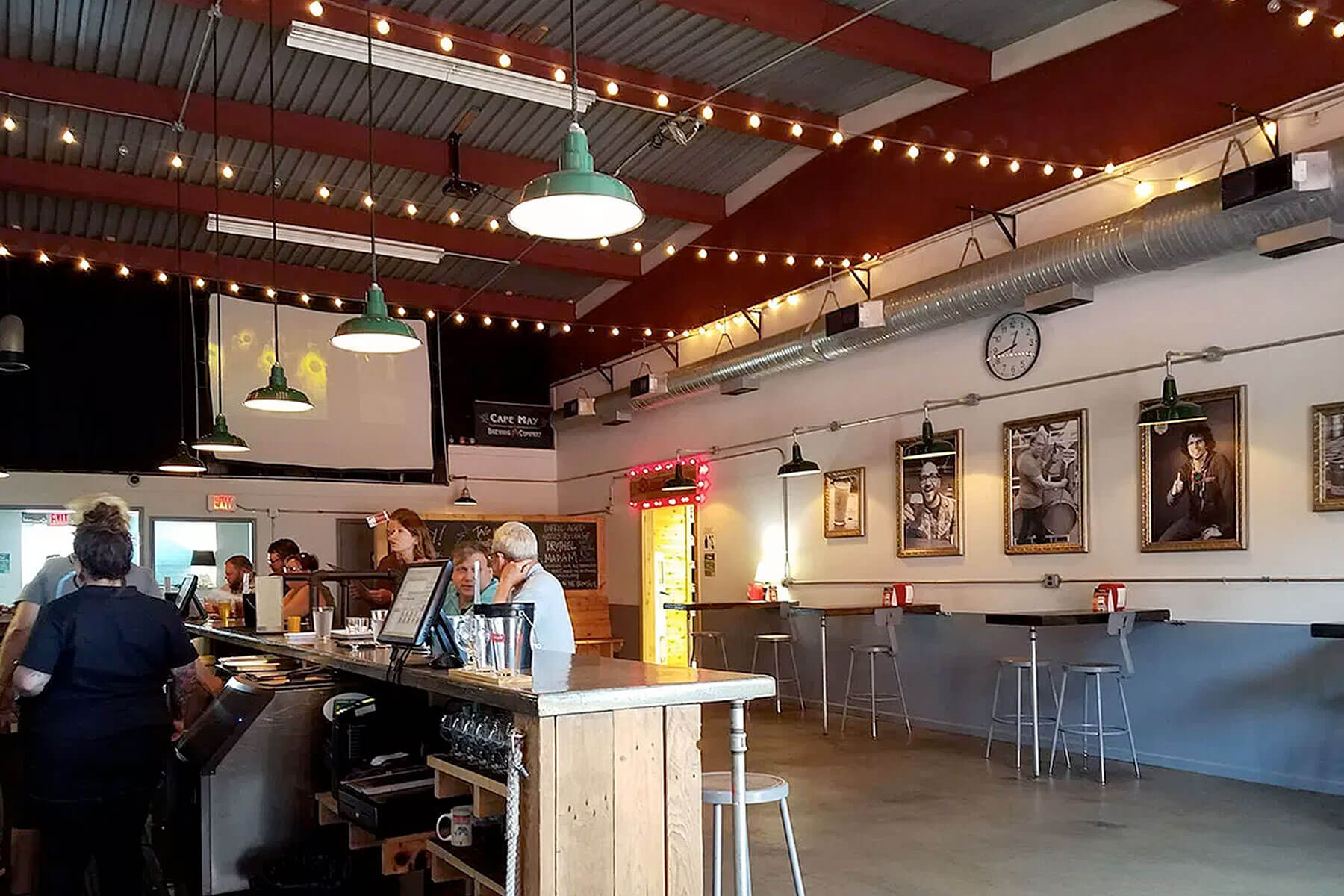 Inside the tasting room at Cape May Brewing Company in Cape May, New Jersey