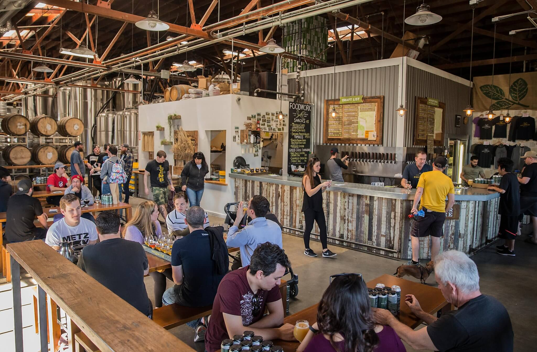 Inside the taproom at the Fieldwork Brewing Company taproom in Berkeley, California