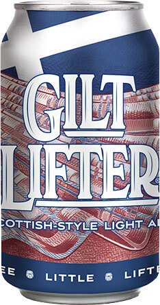12 oz. can of the Gilt Lifter by Four Peaks Brewing Co.