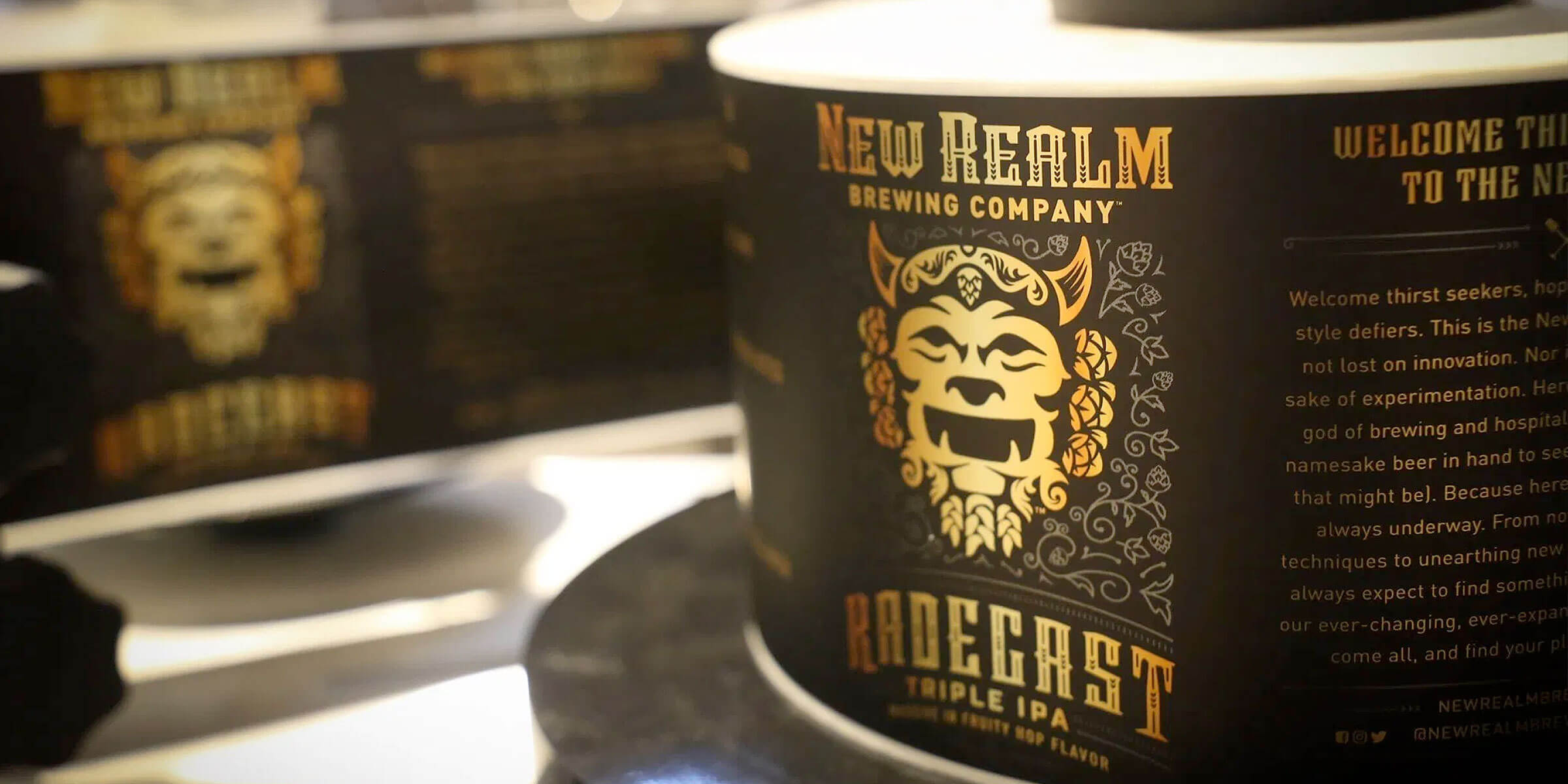 Radegast Triple IPA returns to celebrate its third year, commemorating the opening of New Realm Brewing Company's first brewery in January of each year.