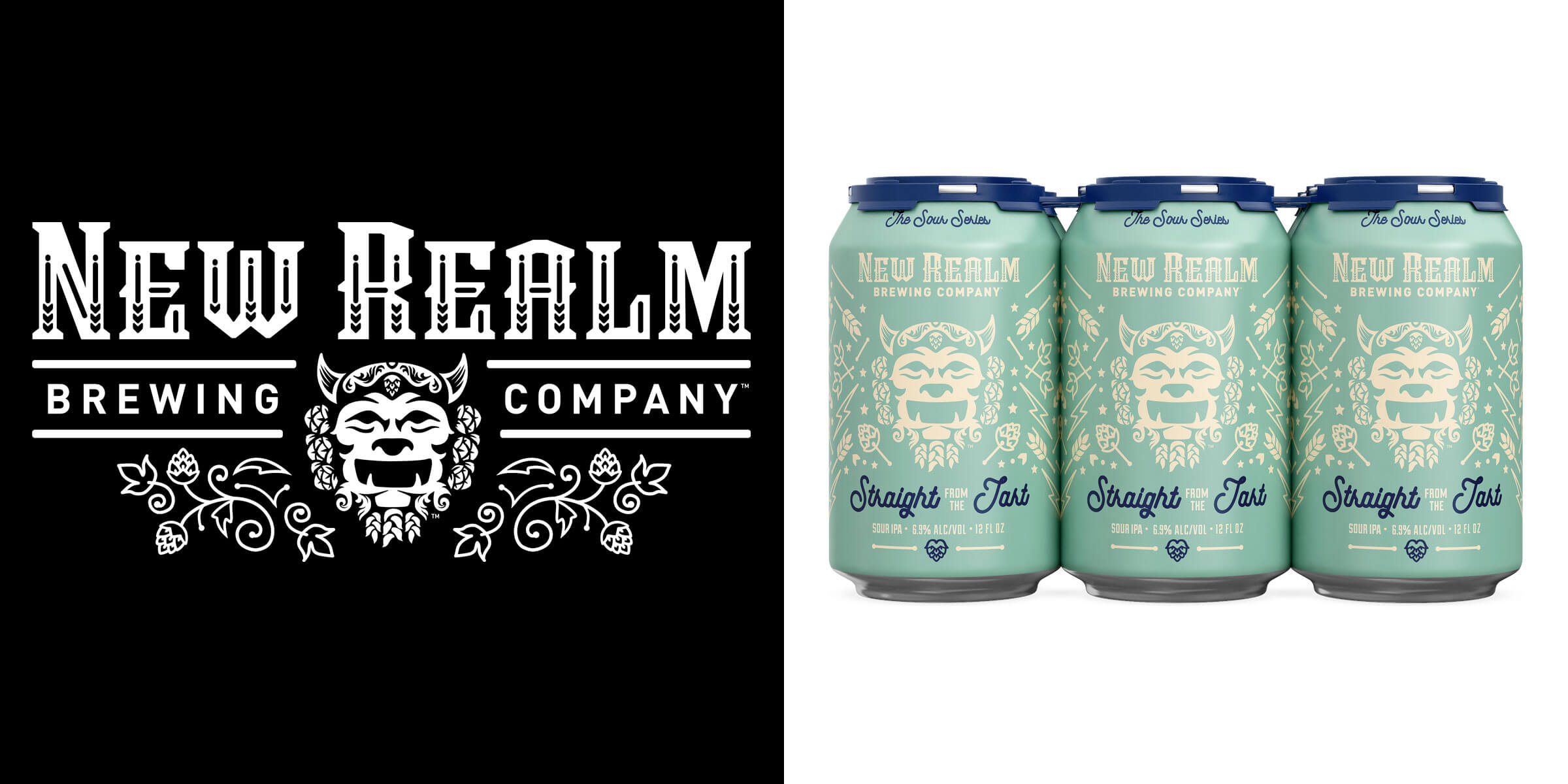 New Realm Brewing Company released the dry-hopped Straight from the Tart Sour IPA that's straight from the heart and latest in The New Realm Sour Series.