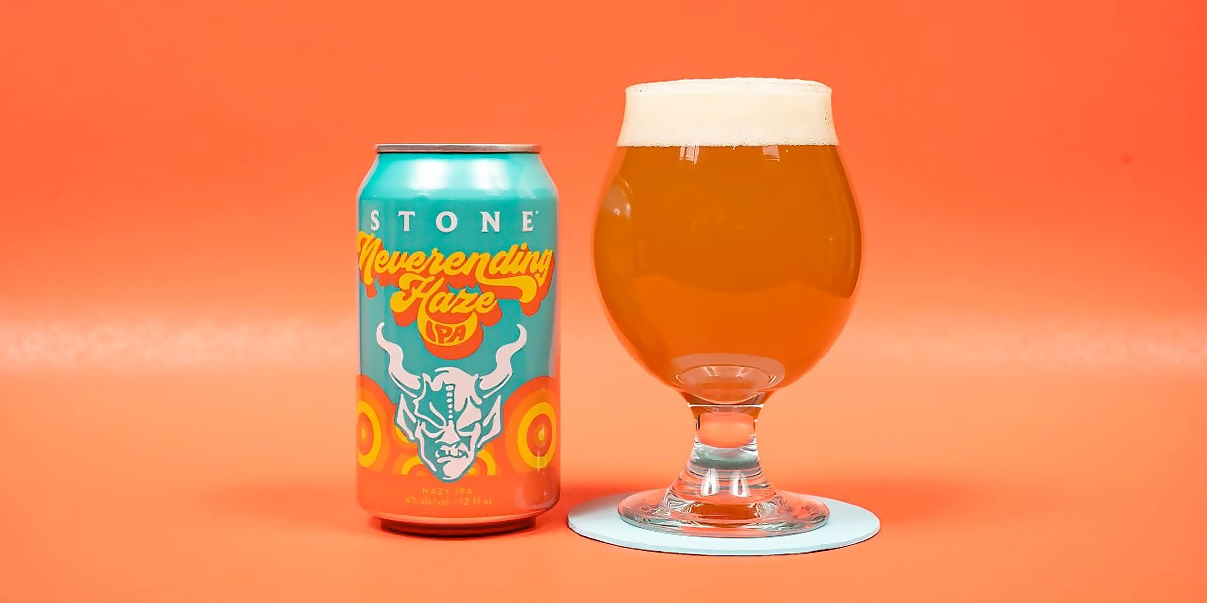 """After a pilot launch in California, Stone Brewing is now releasing its new """"Neverending Haze"""" Session IPA nationwide this week."""