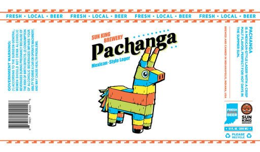 Label art for the Pachanga by Sun King Brewery
