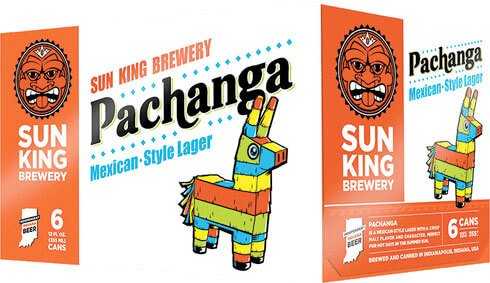 Packaging art for the Pachanga by Sun King Brewery