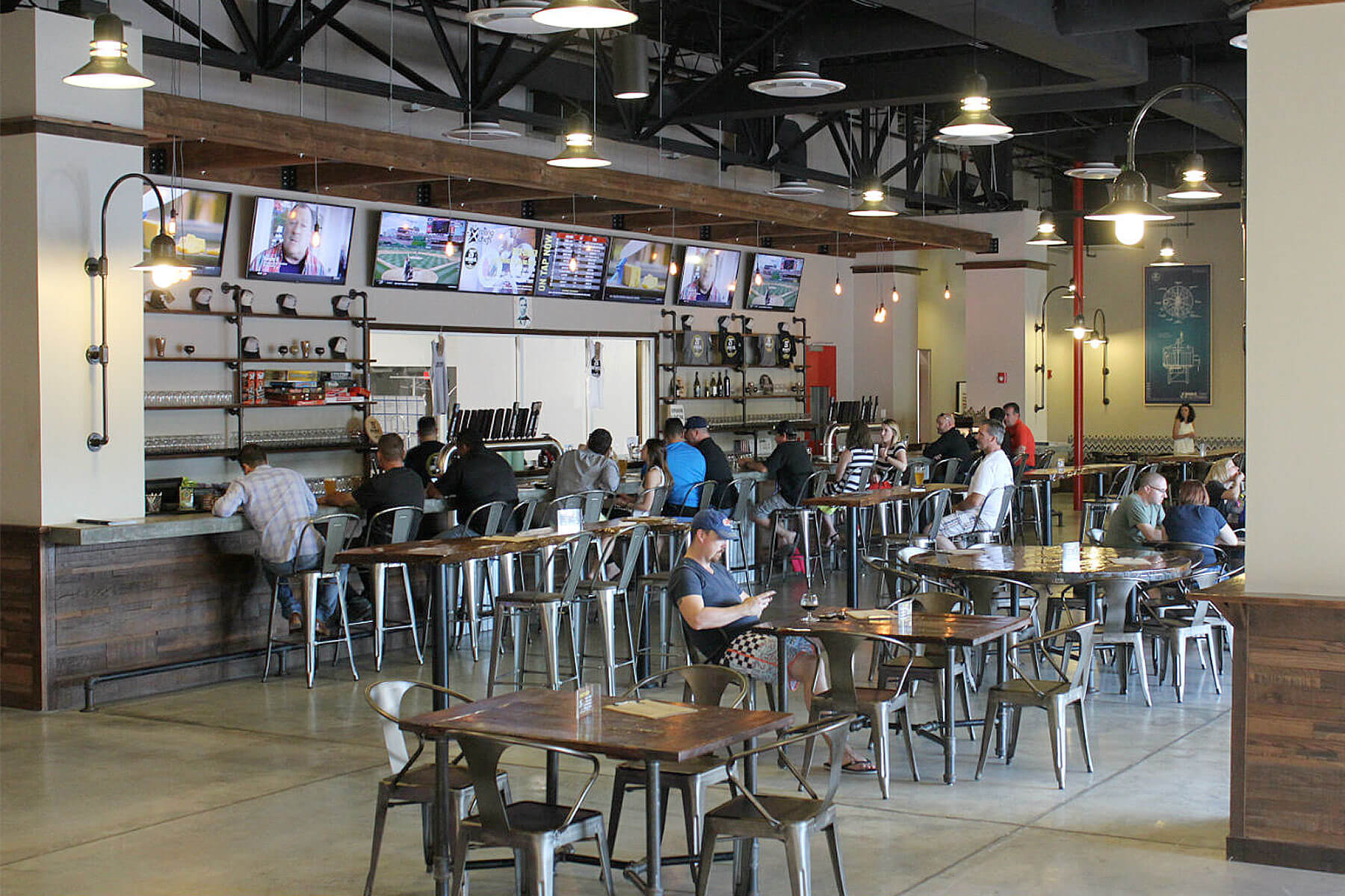 Inside the taproom at 26 Degrees Brewing Co. in Pompano Beach, Florida
