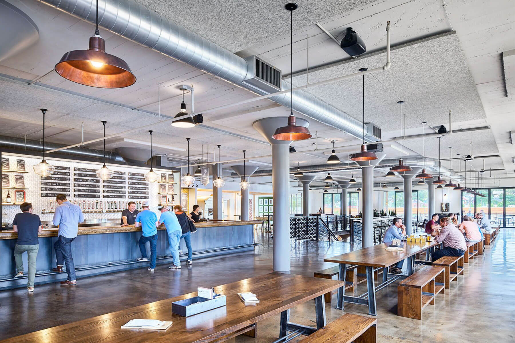 Inside the taproom at Boulevard Brewing Co. in Kansas City, Missouri
