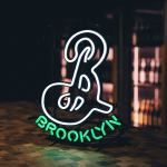 Thumbnail of http://Neon%20Brooklyn%20Brewery%20logo%20signage%20inside%20the%20B%20at%20K5%20taproom
