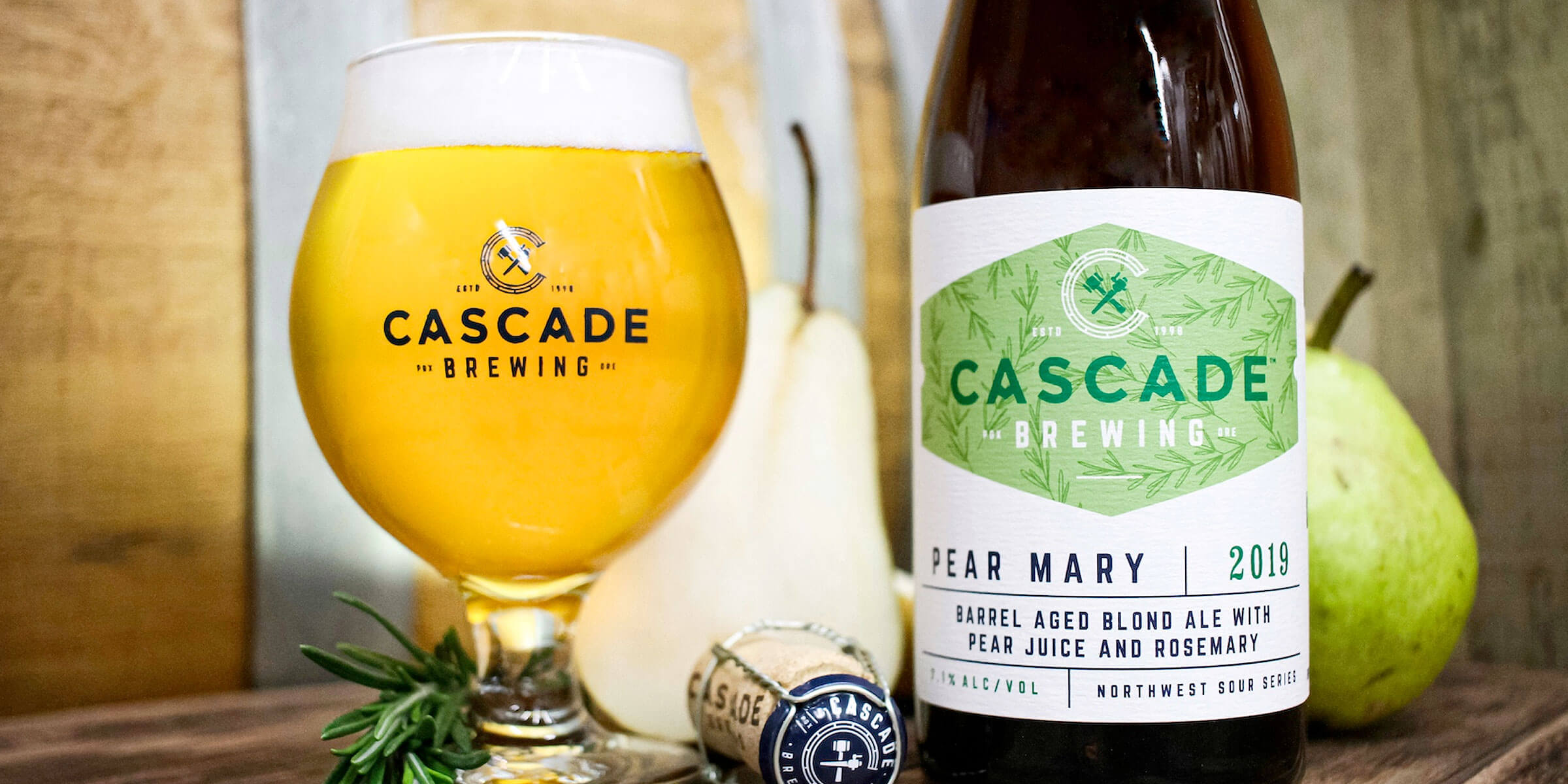 As a Valentine's Day gift to sour beer lovers, Cascade Brewing is releasing two sour beers on Friday, February 14th: Pear Mary and Kentucky Peach 2019.