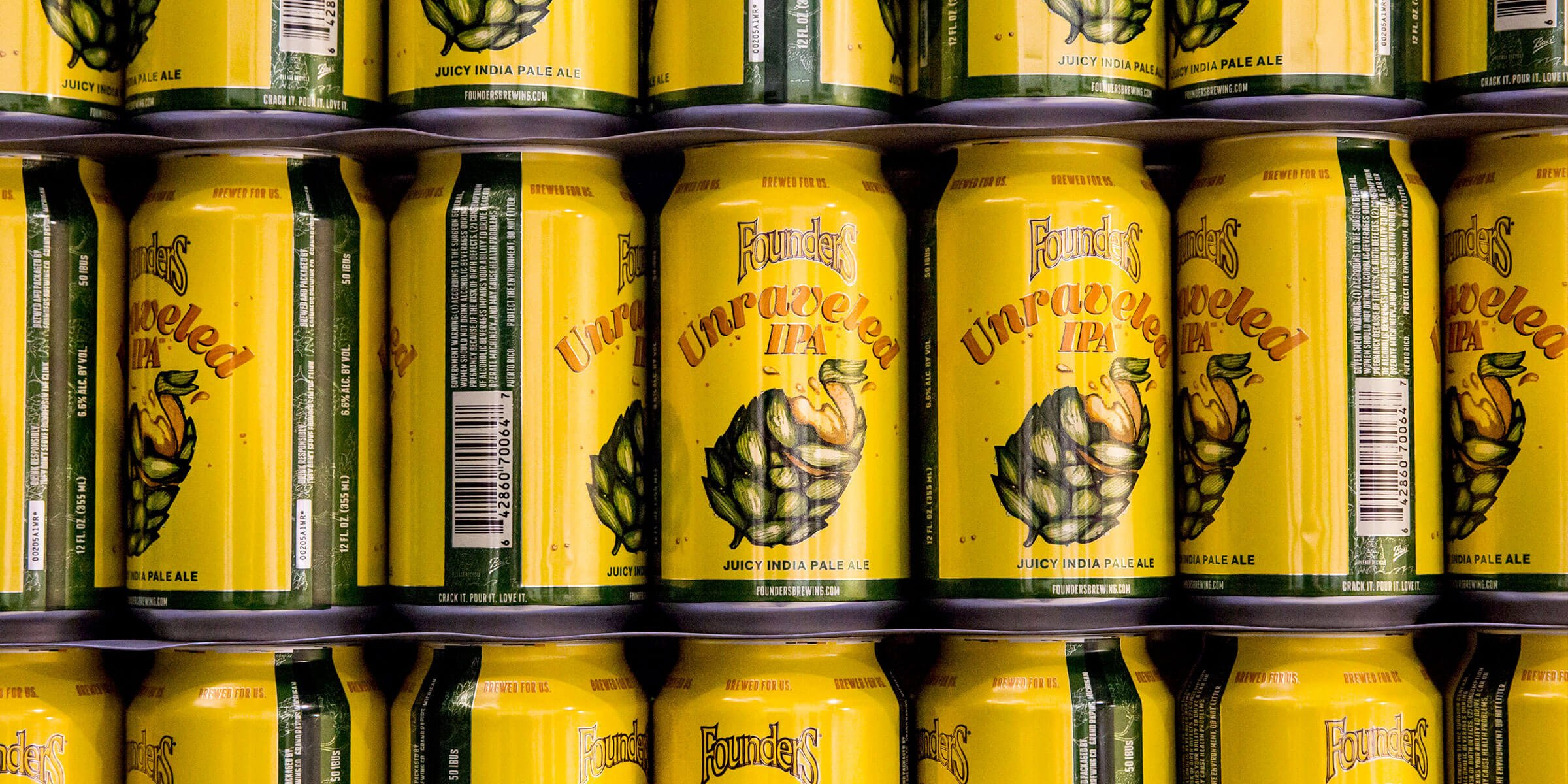 Founders Brewing Co. has made Unraveled IPA its newest addition to the brewery's year-round lineup and is available now nationwide.