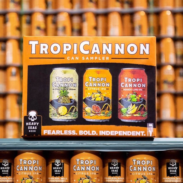 Heavy Seas Beer announced a new TropiCannon 12 pack can sampler featuring two new variants: TropiCannon Pineapple IPA and TropiCannon Mango Lime IPA.