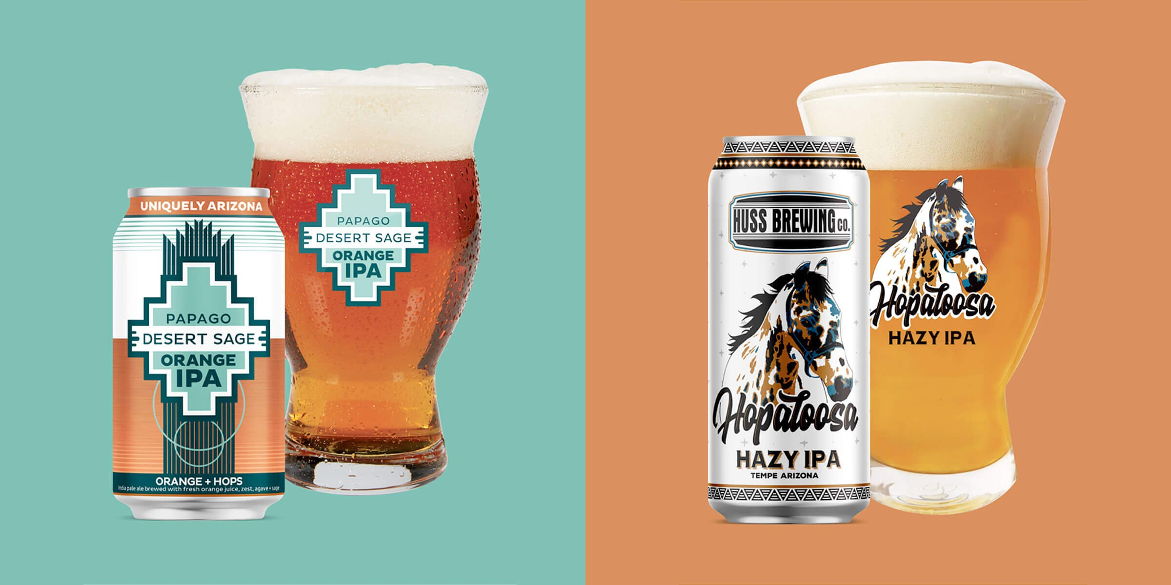Arizona's own Huss Brewing Co. announced it's rolling out two new IPA craft beers, Hopaloosa Hazy and Papago Desert Sage Orange.
