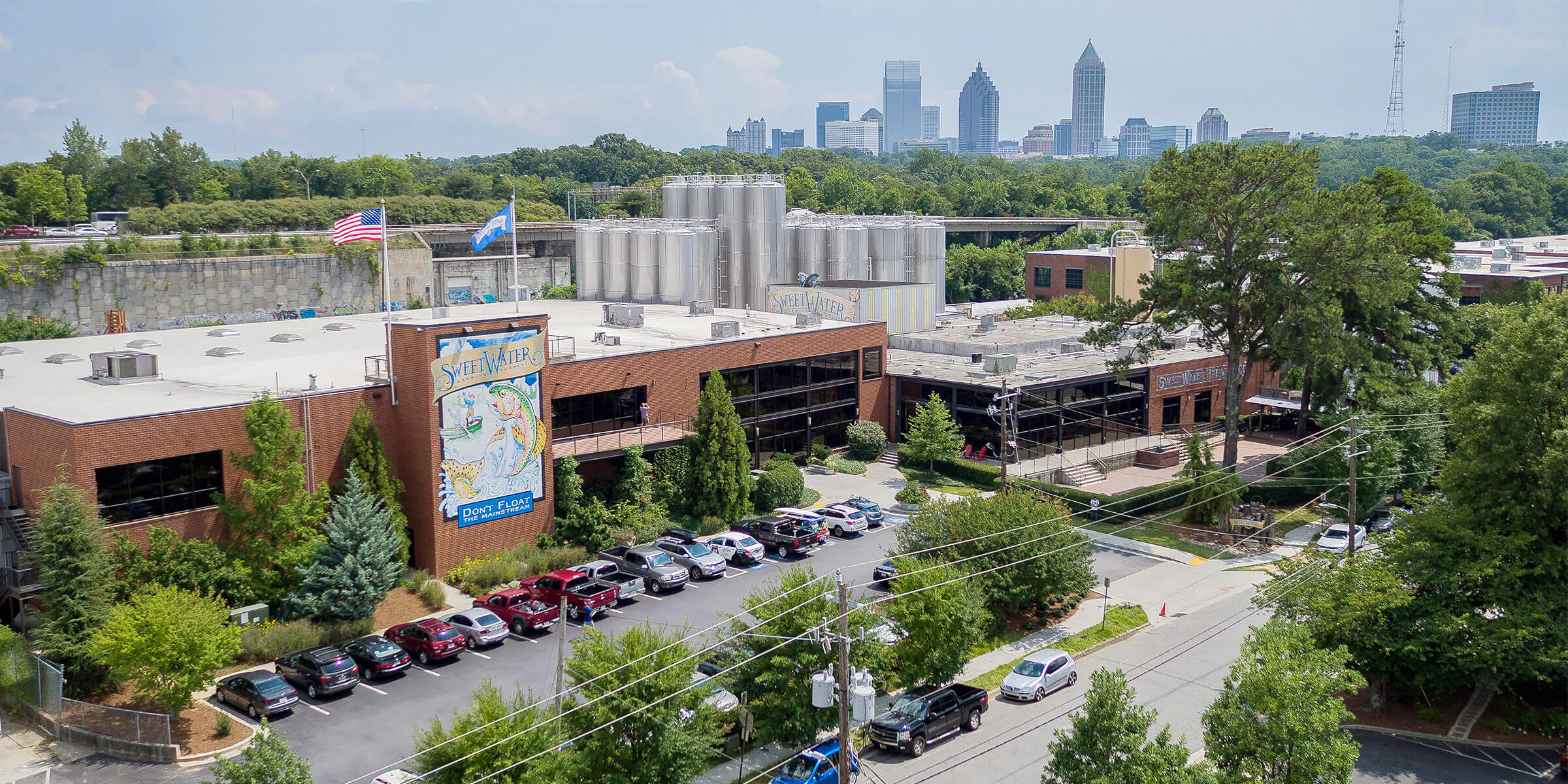 Above the SweetWater Brewing Company in Atlanta, Georgia