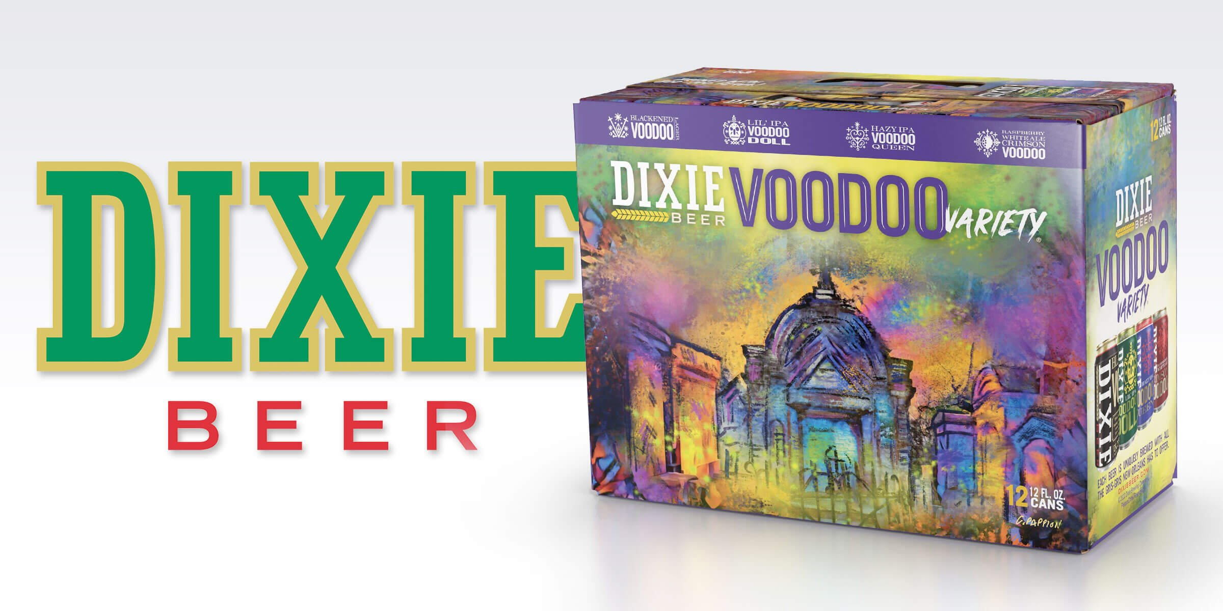 Dixie Brewing Company announced the release of their new Voodoo expansion series, including Crimson Voodoo, Voodoo Queen, Voodoo Doll, and Blackened Voodoo.