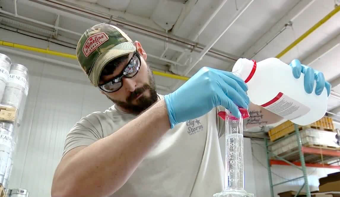 Big Storm Brewing Co. filed an application to manufacture ethanol to produce more than 100 gallons of commercially packaged hand sanitizer each day.