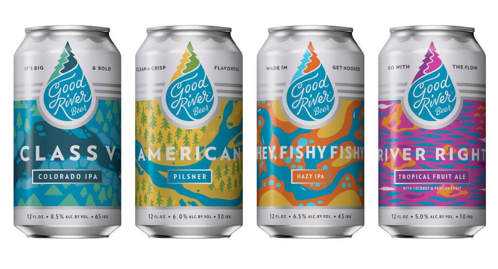 A collection for four beers featured in the Variety 12 Packs by Good River Beer Company