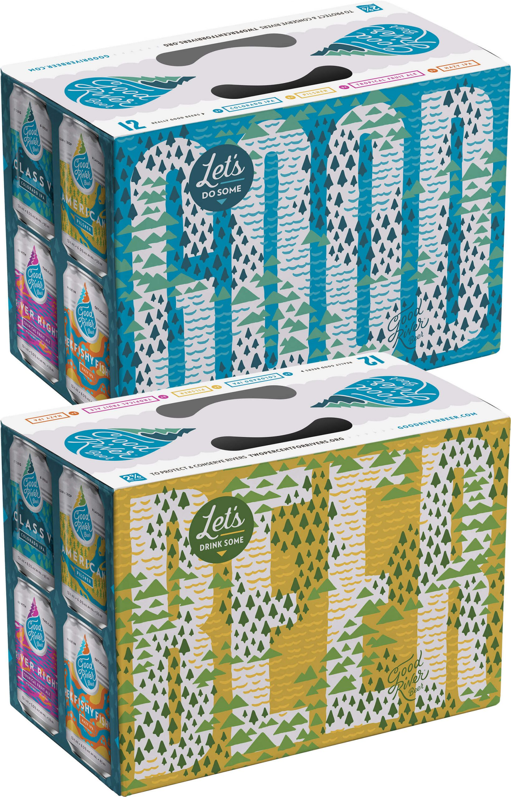 Packaging design for Variety 12 Packs by Good River Beer Company