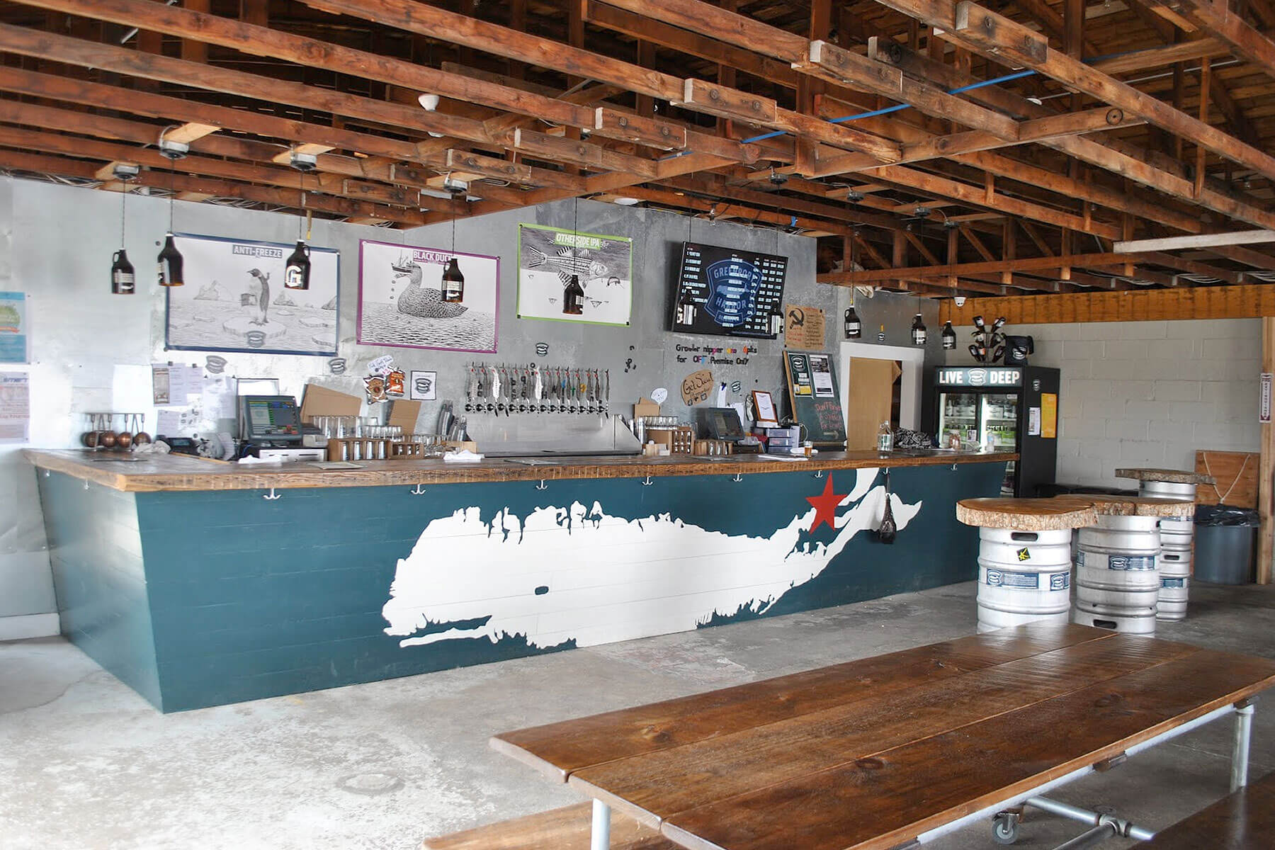Inside the Greenport Harbor Brewing Co. which was temporarily closed due to an employee being diagnosed with the coronavirus.