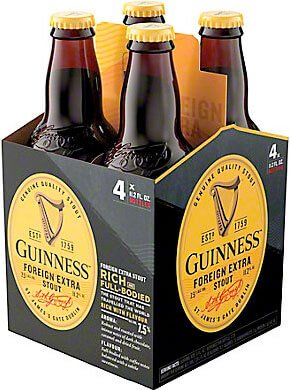 Packaging art for the Guinness Foreign Extra Stout by Guinness Ltd.
