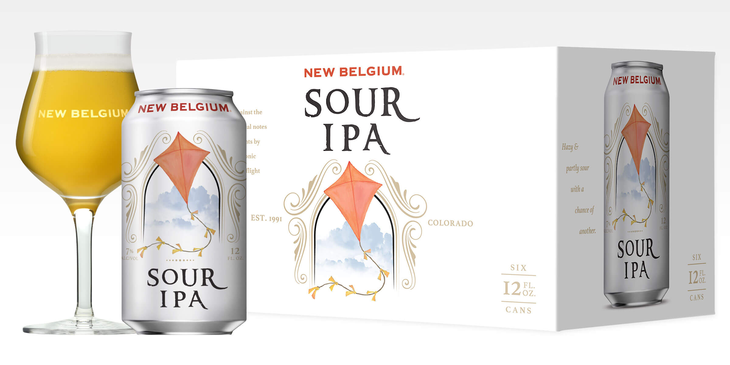 New Belgium Brewing Company announced the nationwide release of Sour IPA, a hazy, Citra and Amarillo dry-hopped IPA blended with authentic wood aged golden sour.