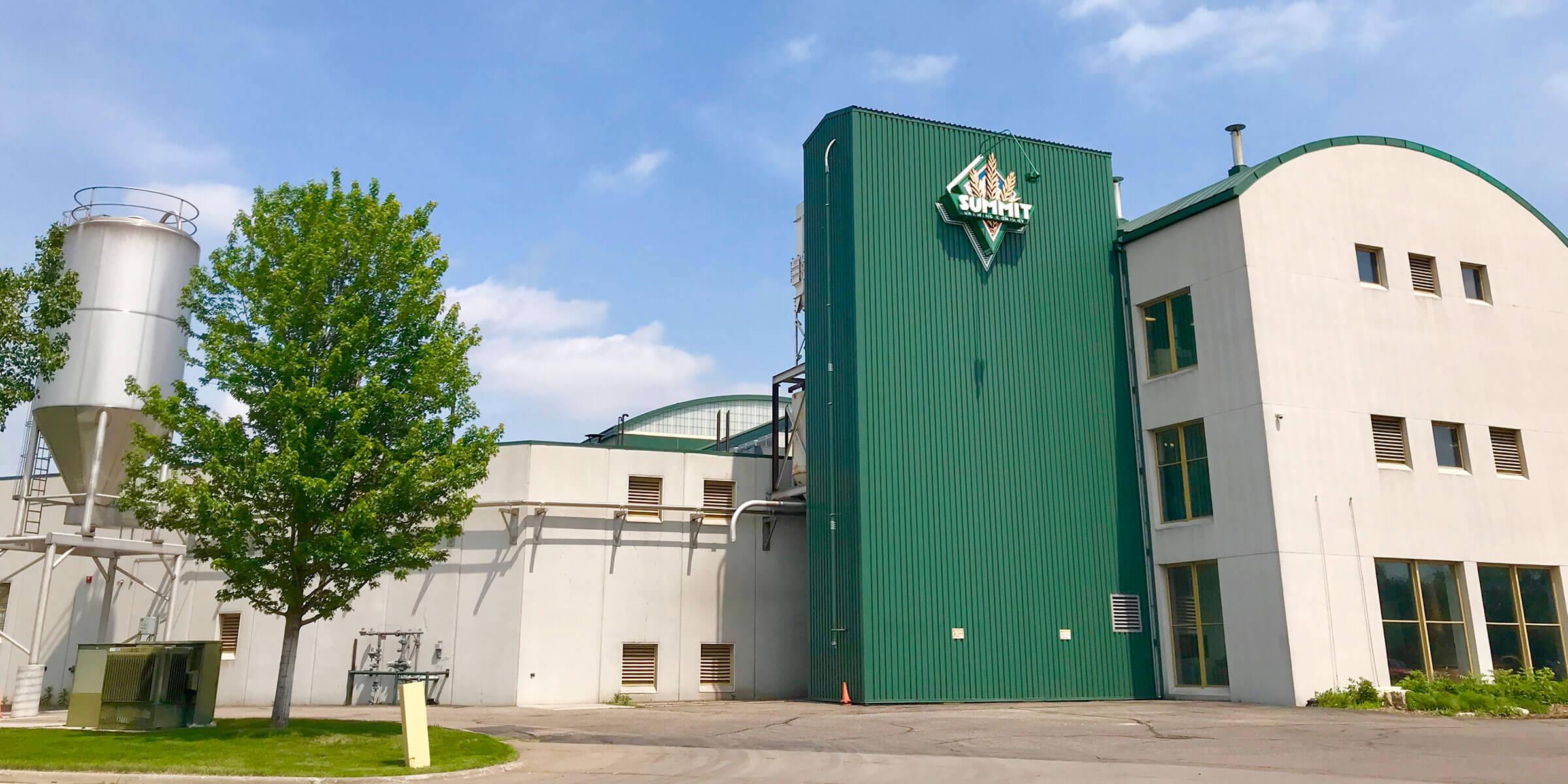 Outside Summit Brewing Co. in St. Paul, Minnesota