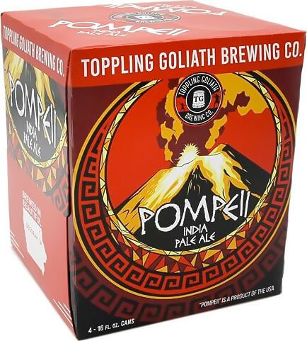Packaging art for the Pompeii IPA by Toppling Goliath Brewing Co.