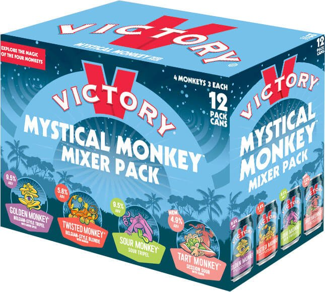 Packaging design for Mystical Monkey Mixer Pack by Victory Brewing Company