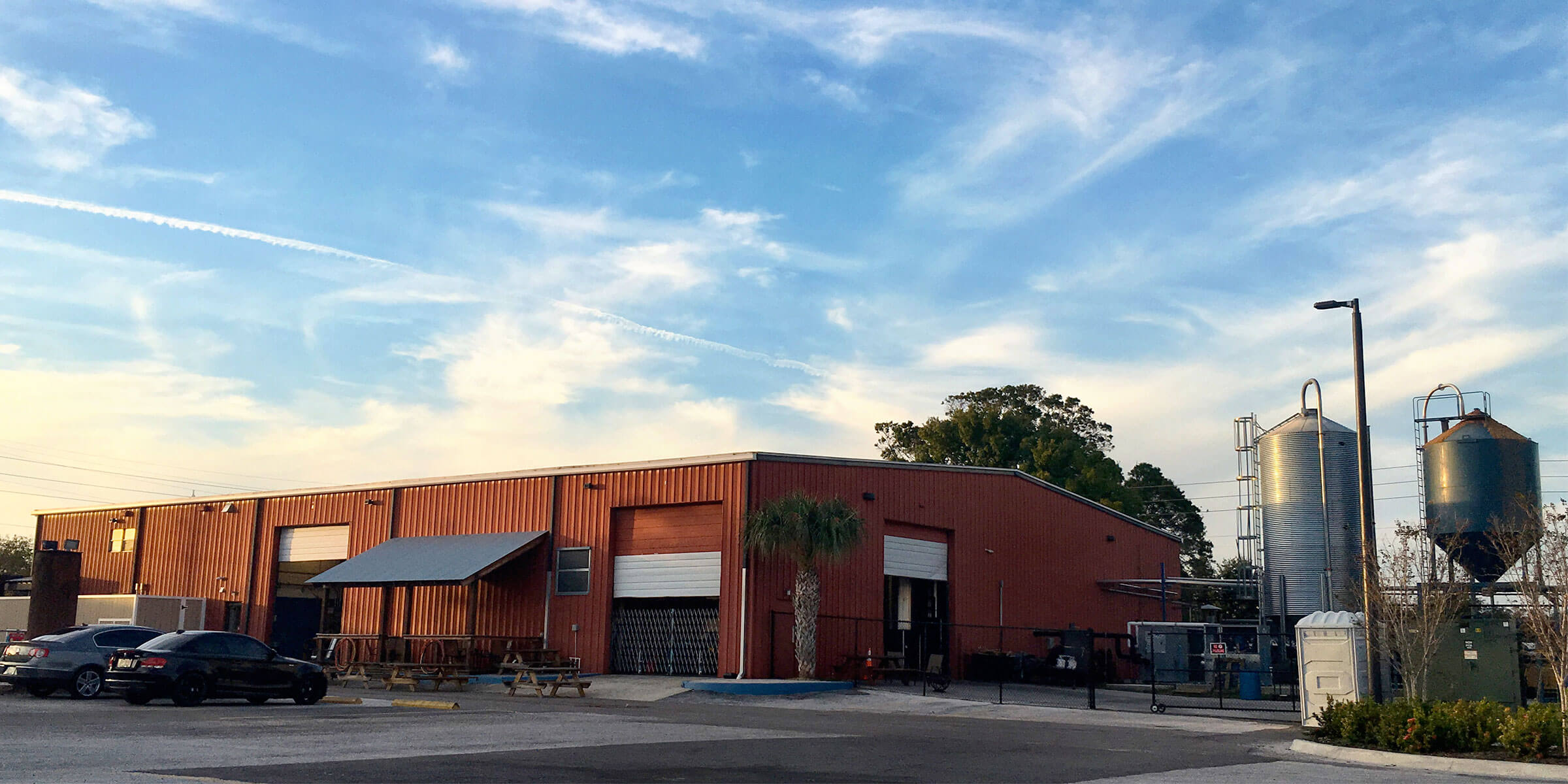 Outside 3 Daughters Brewing in St. Petersburg, Florida