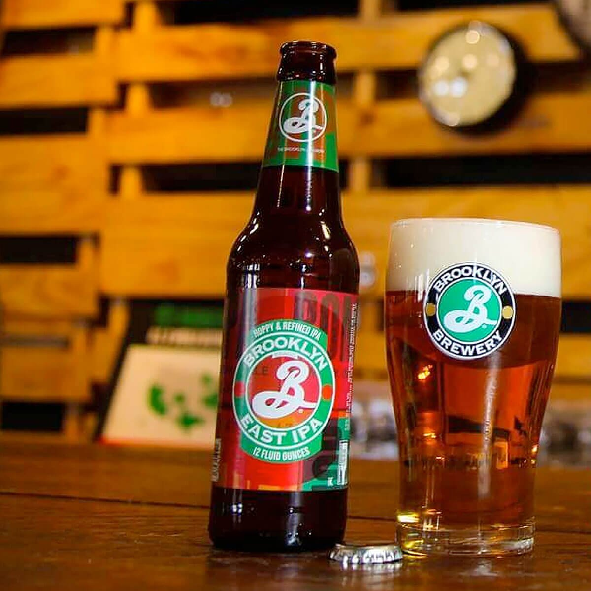 Brooklyn East IPA is an English-style IPA by Brooklyn Brewery that balances biscuit, caramel, and nut with floral and peppery hops.