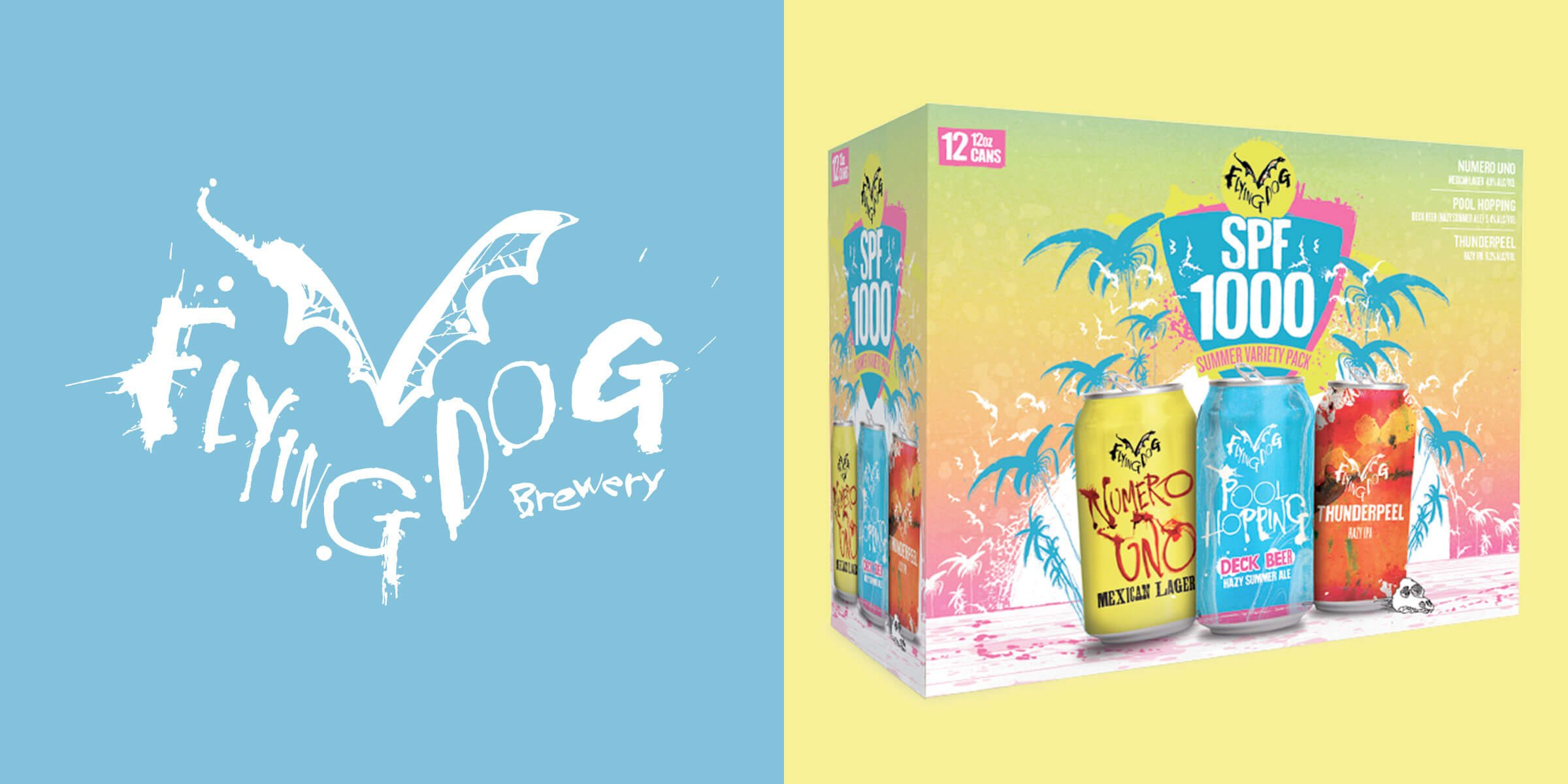 Flying Dog Brewery has released a new variety pack for the summer, SPF 1000, featuring Thunderpeel, Numero Uno, and their new summer seasonal, Pool Hopping.