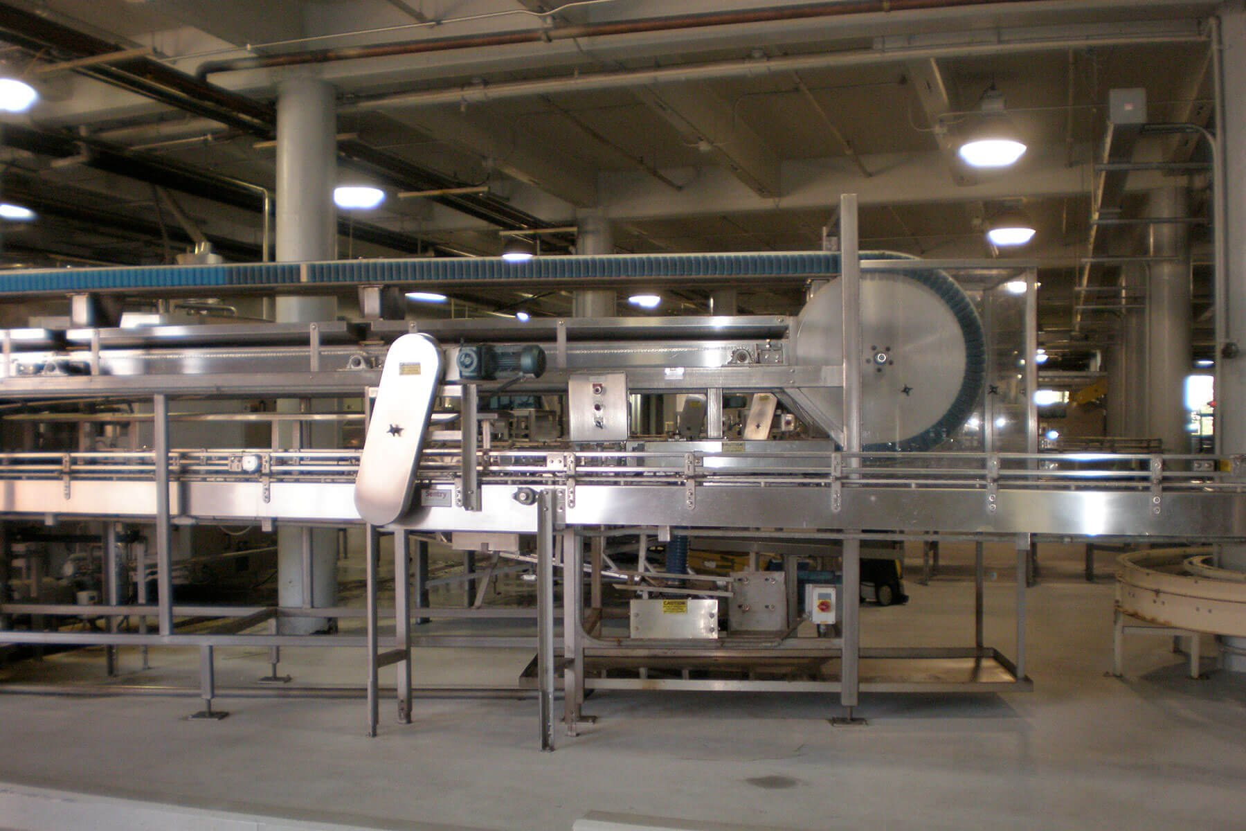Inside the production facility at Gordon Biersch Brewing Company in San Jose, California