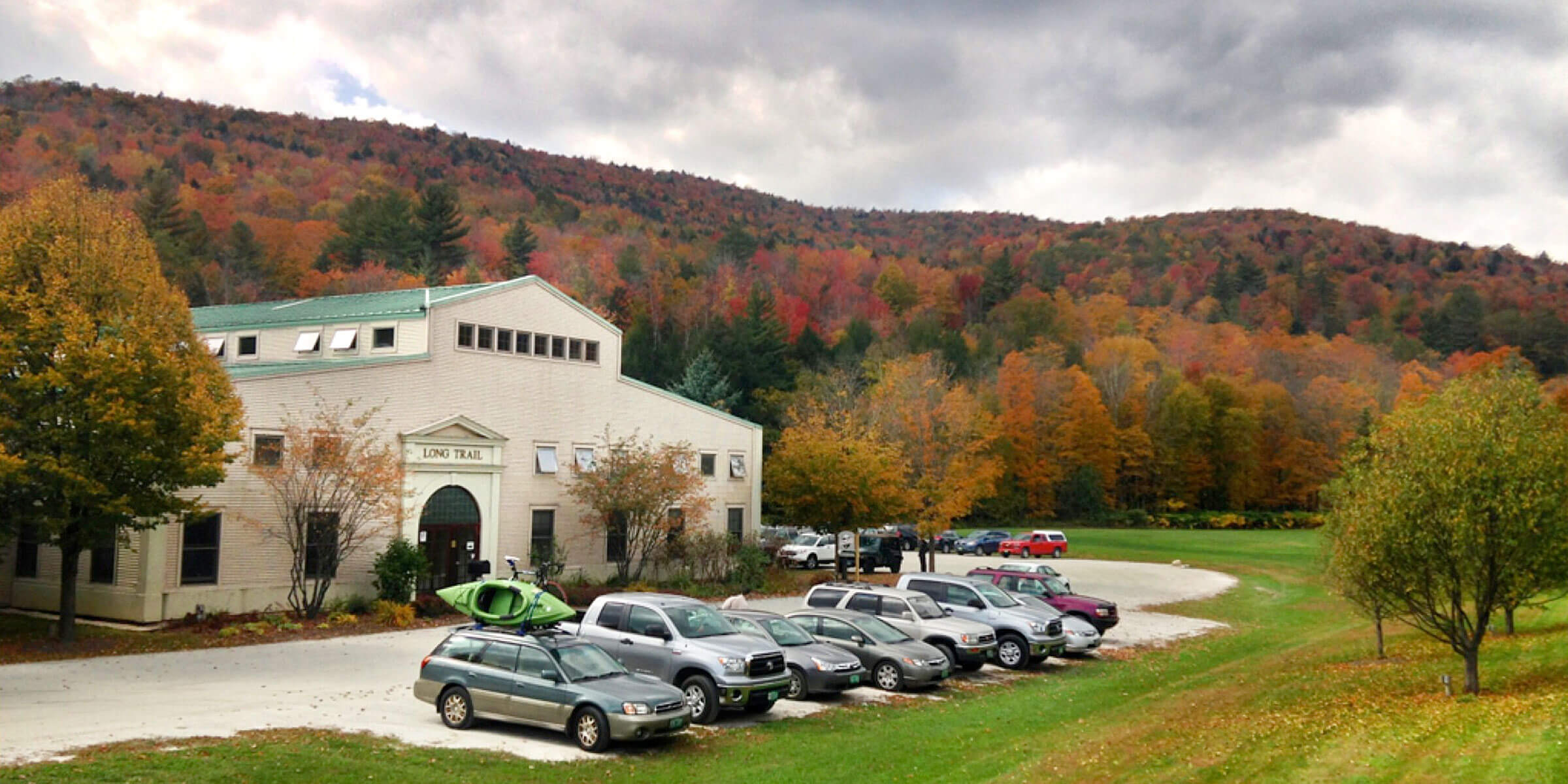 Outside the Long Trail Brewing Company in Bridgewater Corners, Vermont