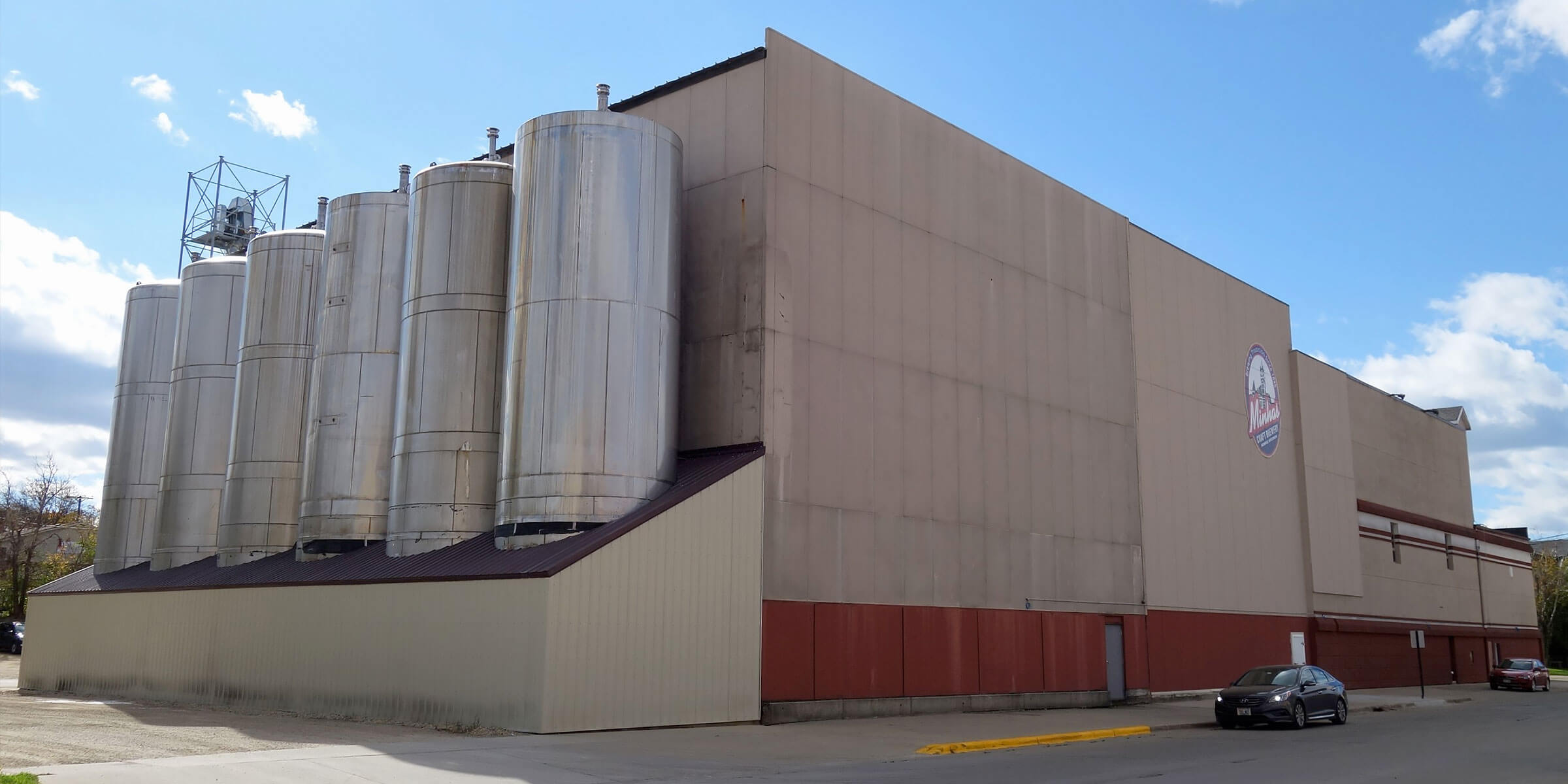 Outside the production facility at Minhas Craft Brewery in Monroe, Wisconsin