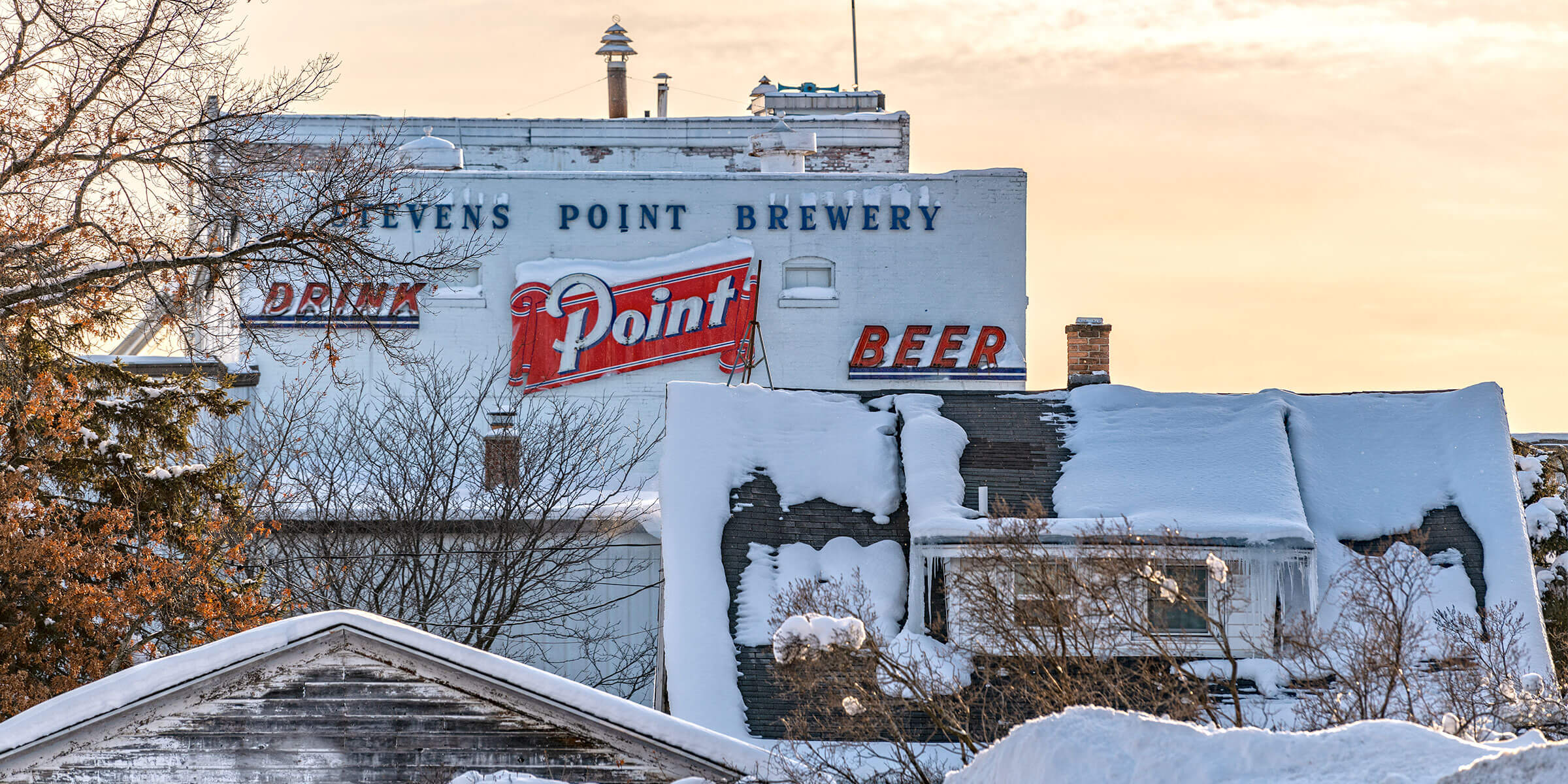 Outside the Stevens Point Brewery in Stevens Point, Wisconsin