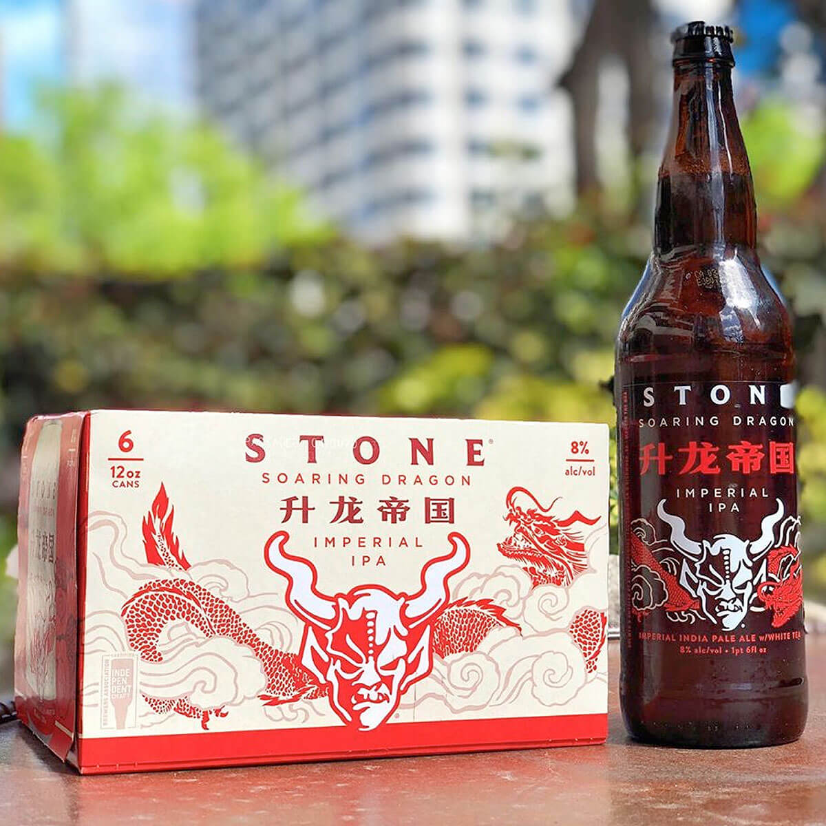 Stone Brewing has released the Stone Soaring Dragon Imperial IPA featuring a harmony of the delicate floral qualities of White Tea with Citra and Loral hops.