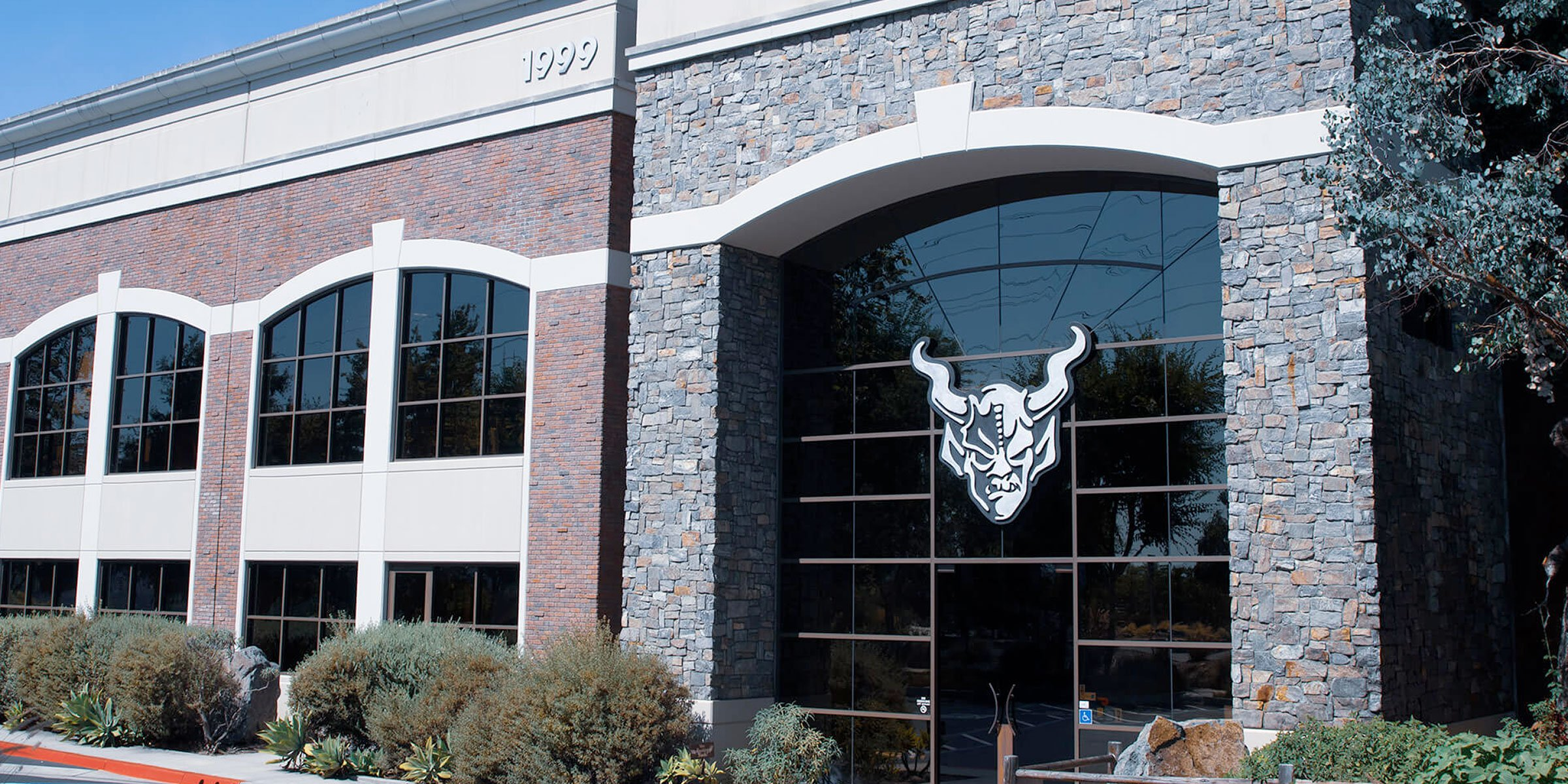 Outside the entrance to the Stone Brewing location in Escondido, California
