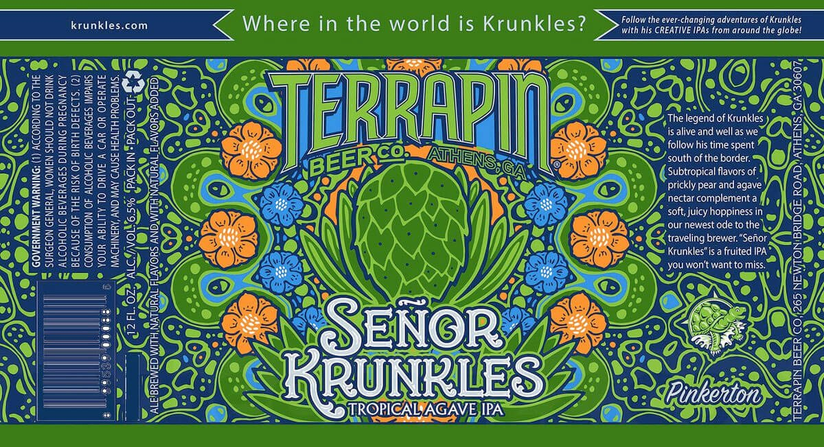 Label art for the Señor Krunkles by Terrapin Beer Co.