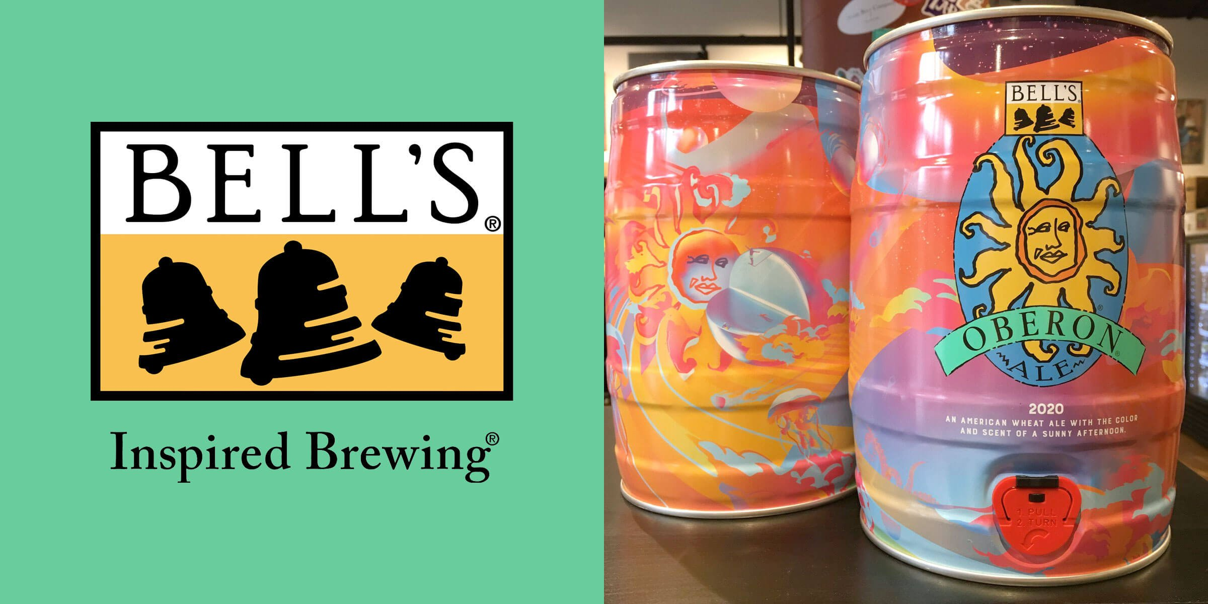 Bell's Brewery, Inc. has begun offering additional packaging options for the Two Hearted Ale, Light Hearted Ale, and their summer seasonal, Oberon Ale.