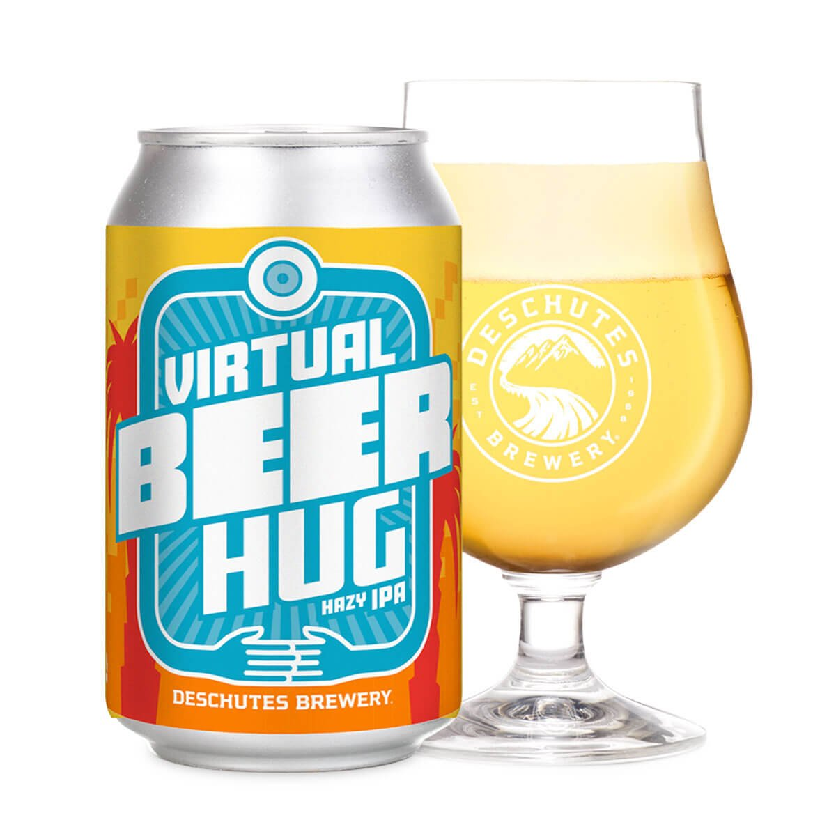 The Virtual Beer Hug by Deschutes Brewery is one of two beers being released in support of the hospitality industry