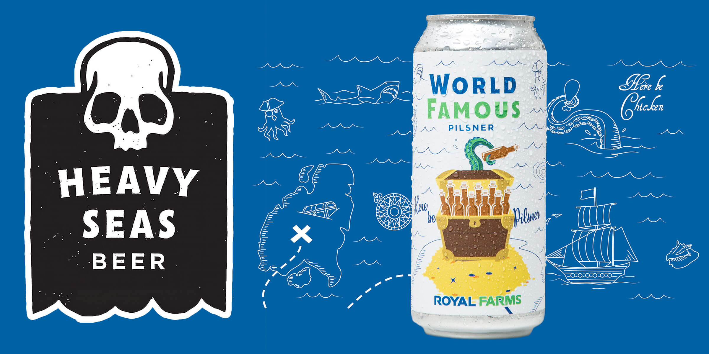 Heavy Seas Beer has released World Famous, a Pilsner brewed in collaboration with and sold at Royal Farms locations in Maryland, Pennsylvania, and Virginia.
