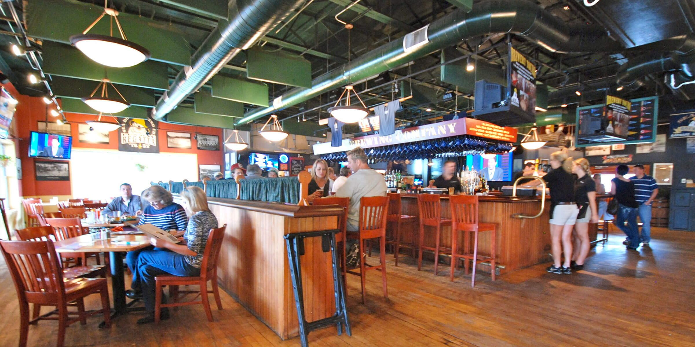 Inside the brewpub at Sea Dog Brewing Co. in Bangor, Maine