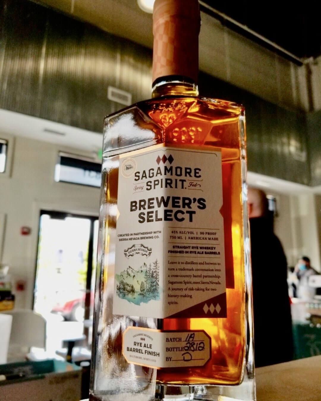 750 ml bottle of Sagamore Spirit Brewer's Select Rye Ale Barrel Finish