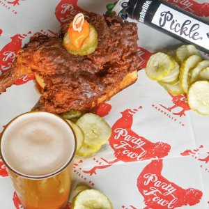 TailGate Brewery launched the Dill With It pickle-flavored kölsch, an exclusive offering at Party Fowl locations to complement their Nashville Hot Chicken.